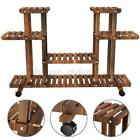 4-Tier Wooden Plant Stand Pot Planter Holder Rack Display Shelves Garden Home UK