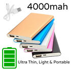 4000mAh Portable Power Bank Ultra Slim for iPhone | Samsung | Tablet