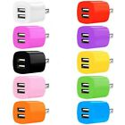 3-Pack USB Charging Cube Dual Wall Charger Adapter For iPhone Samsung Android US