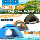 Tent Camping Pop Up Waterproof Family Hiking Beach Automatic Instant 4 Season