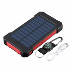 Portable 5000000mAh Solar Power Bank with Compass 2USB LED Battery Charger