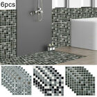 6pcs 3d Mosaic Wall-sticker Kitchen Tile Decal Bathroom Self-adhesive Decor Home