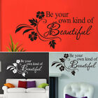 Pvc Wall Stickers Bedroom Living Decoration Flowers Diy Decals Waterproof Home