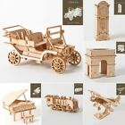 Wooden 3D Model Building Blocks Assembly Puzzles Kids Educational Toys