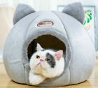 Large Cat Bed Cave Wool Cozy Pet Igloo Bed Winter House Nest Kennel Warm Nest