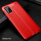 For Samsung Galaxy A11 A21S A31 A41 M31 Slim Rubber Leather Soft Back Case Cover