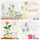 Lotus Dandelion Home Bedroom Decor Removable Wall Sticker Decal Decoration