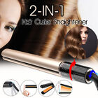2 in 1Hair Straightener Curler Rotating Waver Tourmaline Ceramic Iron Salon