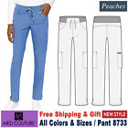 Med Couture Scrub PEACHES Women's New Yoga Out Waist Ties Pant