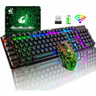 Wireless Gaming Keyboard and Mouse LED Backlit Mechanical Feel For PC PS4 Xbox