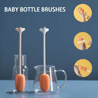 Temperature Resistance Hit Color Long Handle Stand Up Feeding Bottle Brush PP