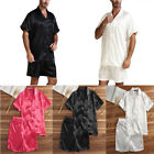 Men's Pyjama Set Shirt Top  Boxers Short Pant Nightwear Sleepwear Comfortable