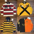 RUGBY POLO RALPH LAUREN LONG SLEEVE SHIRT FREE SHIPPING SIZE MEDIUM AND LARGE