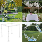 Square Round Hexagon Metal Wedding Arch Frame Moongate Backdrop Free Standing