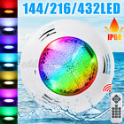 100W 432LED RGB Underwater Swimming Pool Light IP68 Remote Control Fountain