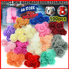 100x Artificial Rose Head Fake Foam Flower Buds Bouquet Diy Home Wedding Decor