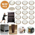 16/32PCS Round Self Stick Adhesive Furniture Sliders 1.25In Glides Carpet Table