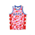 BAPE/A/Bathing Ape Camo Shark Star T-Shirts Crew Neck Breathable Sports Vests