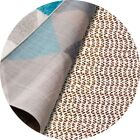 Round 4'/6'/8' Area Rug Gripper Strong Grip Non Skid Slip Rug Pad for Hard Floor