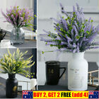 Artificial Fake Lavender Silk Flowers Home Table Decor Bouquet Bridal Wedding
