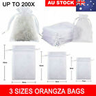 100/200x Organza Bag Sheer Bags Jewellery Wedding Candy Packaging Gift 3 Sizes