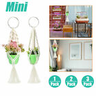 1/2/3Pack Plant Hanger Rope Macrame Holder Basket Flower Pot Mini Home Car Decor
