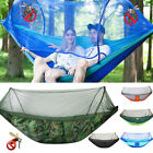 Double Person Camping Hanging Hammock Bed With Mosquito Net Summer Hiking