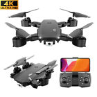 FPV WIFI RC Drone Wide Angle 4K Camera Foldable Quadcopter Selfie 2 Battery Toys
