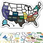 "RV State Sticker Travel Map - 11"" x 17"" - USA States Visited Decal - United Stat"