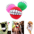 Pet Funny Teeth Rubber Dog Ball Toy Sound Squeak Chew Toys For Small Large Dog