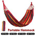 Portable Canvas Double/single Camping Hanging Hammock Travel Outdoor Sleeping