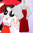 Anime Inuyasha Kikyou Witch Kimono Dress Cosplay Halloween Costume Complete