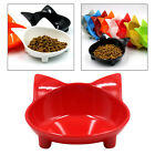 Cute Pet Cat Ears Shaped Food Water Bowl Non-slip Feeding Wide Bowl Red