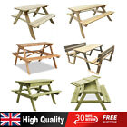 Garden Patio Wooden Picnic Table Chairs Seat Furniture Outdoor Pub Bench Set