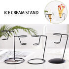 Display Stand Shop Wedding Popcorn W/Base Home Iron Art Ice Cream Cone Holder