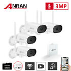 ANRAN 3MP Home Security Camera System 4CH WiFi Surveillance Audio 64G Pan Tilt
