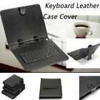 Standard USB Keyboard Universal PU Leather Case Cover For 7/9/9.7* Android Table