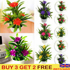 Artificial Fake Plant Flowers With Pot Potted Home Outdoor False Floral Decor