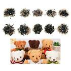 100Pcs/Bag DIY Doll Toy Eyes Black Plastic Safety Eyes Puppets Doll with Washers