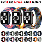 For Apple Watch Band Series 6 5 4 3 Se Nylon Braided Iwatch Strap 38 40 42 44
