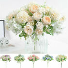 Silk Peony Artificial Fake Flowers Bunch Bouquet Home Wedding Party Decoration