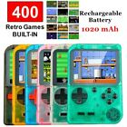 """New Handheld Retro Game Console, 8 Bit 400 Classic Games 3"""" Monitor Rechargeable"""