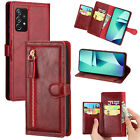 For Samsung S21+ S20 Note 20 Ultra Note 10 Case Zipper Wallet Leather Flip Cover