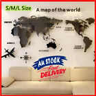 Acrylic 3d Map Of World Wall Sticker Smooth Solid Crystal Home Office Decor Au