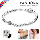 Genuine Pandora Women's Bracelet Beads & Pave S925 Sterling Silver with Gift Box