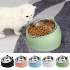 Cute Cat Raised Bowl No-slip Stainless Steel Elevated Stand Tilted Feeder Bowl~
