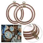 1/4X Embroidery Hoop Ring Bamboo Wooden Circle Cross Stitch Frame For Hand Craft