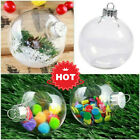 1-20x Baubles Clear Cra Decor Tree Ornament Christmas Ball Fillable Plastic