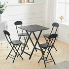 Wooden Patio Table Chairs Set Foldable Desk Dining Coffee Table Outdoor Home...