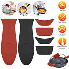 3x Pot Handle Holder Cast Iorn Hot Silicone Potholder Pan Covers Heat Resistant
